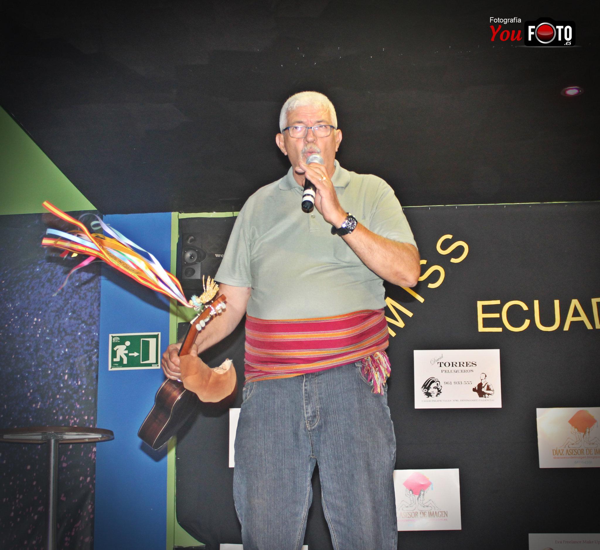 Actuación de Tío Fredo en Miss Ecuador Valencia 2013